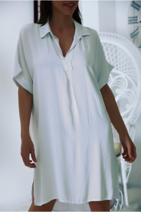 Superbe robe tunique Blanche ample à manches courtes
