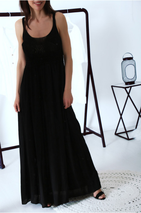 robe boheme longues noires