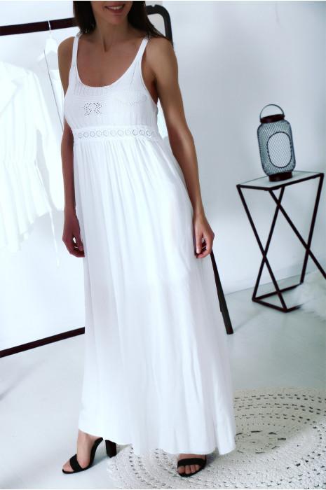 Superbe robe longue Blanche style bohème chic