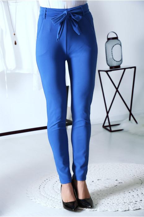 Schitterende Royal legging met hoge taille, riem en zakken