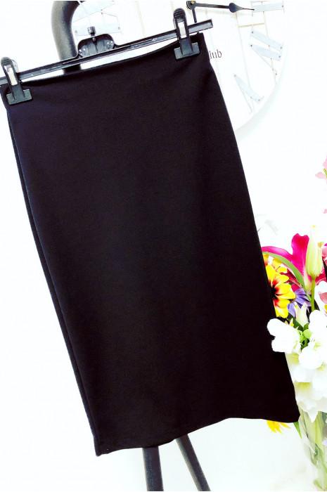 Jolie jupe moulante 3/4 Noir style classique