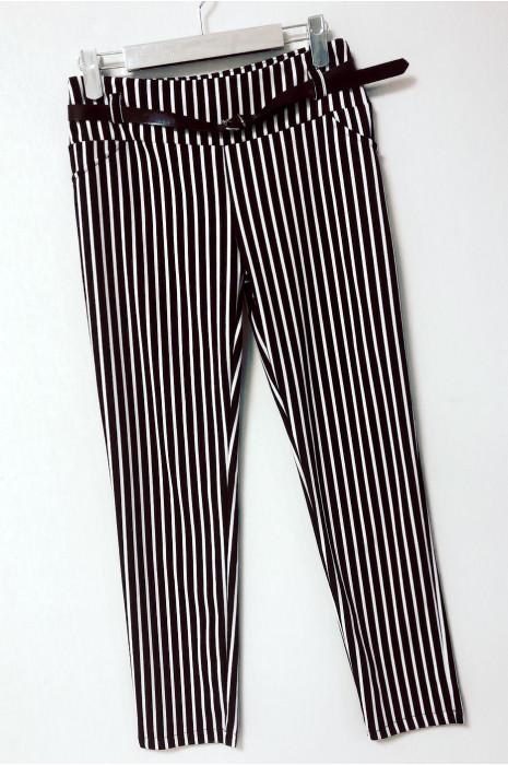 Pantalon rayé avec ceinture