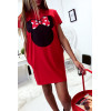 Robe T-Shirt ample Rouge avec tête de Minnie et poches