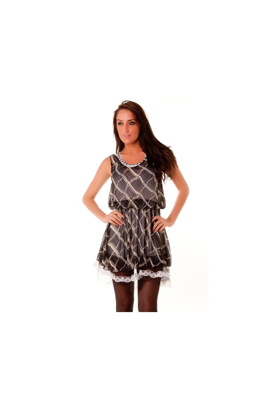 Jolie robe blanc/noir/noire dans l'esprit danseuse, ballerine. Tendance 2012. 83206