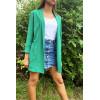 Sublime veste blazer longue Vert avec poches