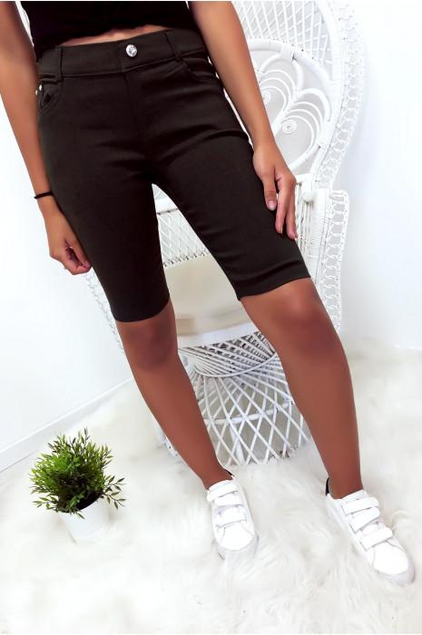 pantacourt Noir basique avec poche
