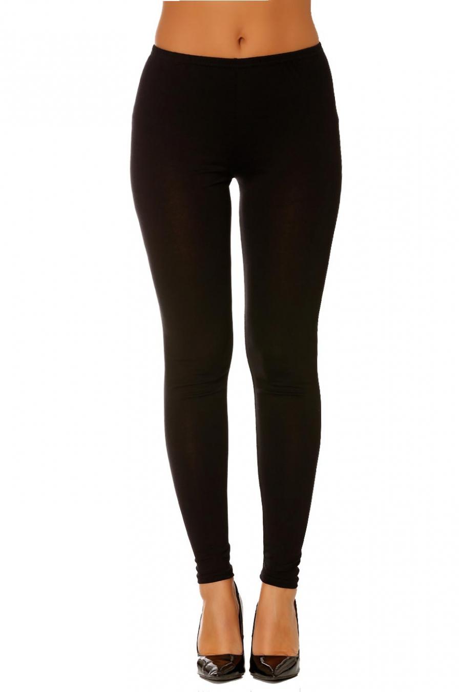 Leggings uni basique couleur Noir  .