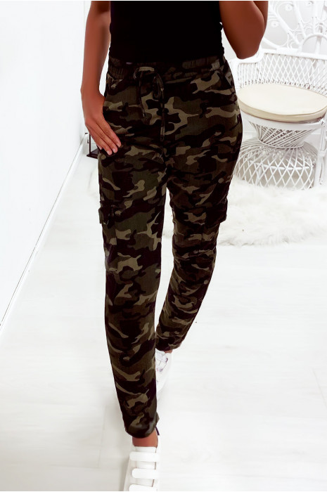 Magnifique pantalon treillis militaire kaki et taupe