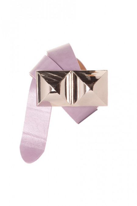 Beautiful purple belt with large buckle. Fashion accessory MH - 051