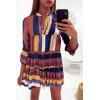 Jolie robe tunique multicolor à volant