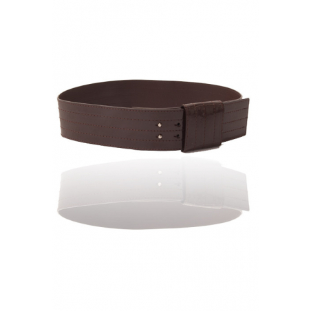 Grosse ceinture mode marron. Accessoire de mode en gros. 45918X003