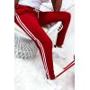 Super jogging rouge avec 2 bandes et poches