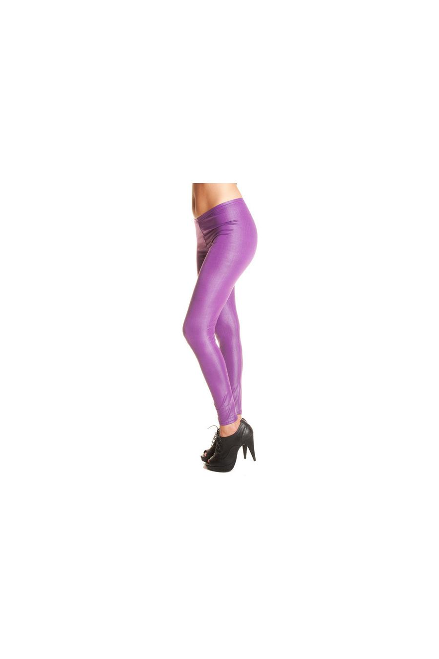 Leggings femme fashion dans une superbe matière brillante