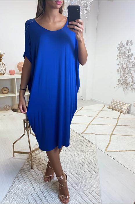 Magnifique robe tunique royal, coupe ample. Mode femme 1754