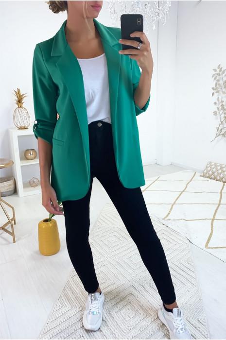 Superbe veste 3/4 léger en vert d'eau. Mode femme pas cher 1815