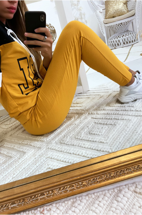 Jogging moutarde très agréable à porter