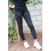 Jeans slim noir avec poches sur les cotés. A2013