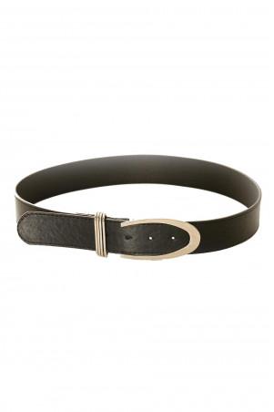 Basic black belt with silver buckle. BG-P0Z9