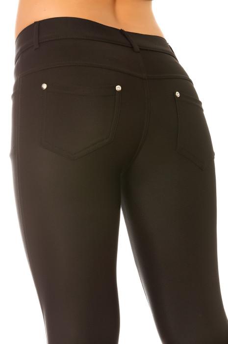 Pantalon slim Noir taille basse ultra elastane.  9934