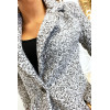 Magnifique manteau 3/4 en gris dans une belle matière chaude