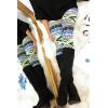 125-2 Beige Dominant Pattern Winter Leggings