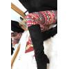Mooie fuchsia legging met Azteeks patroon 9-235