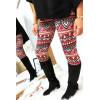 Joli legging fuchsia motif aztèque 9-235