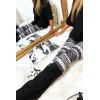 Legging met driehoekige prints in grijs, zwart en wit. G9-237