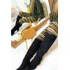 Leggings d'hiver acrylique en Kaki, Camel, Choco et jolie motif. Leggings pas cher. 105