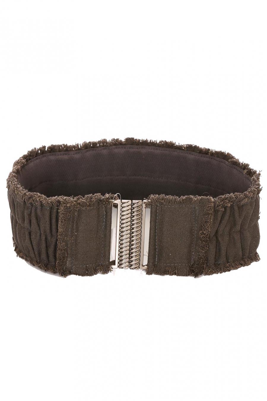 Wide anthracite belt, clip fastening. SG-0908