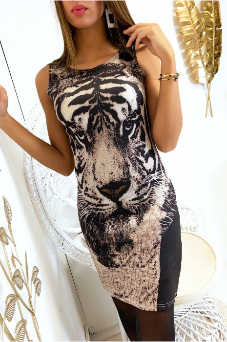Bodycon-jurk met luipaardprint