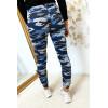Pantalon jogging militaire bleu avec poches. Enleg 9-169.