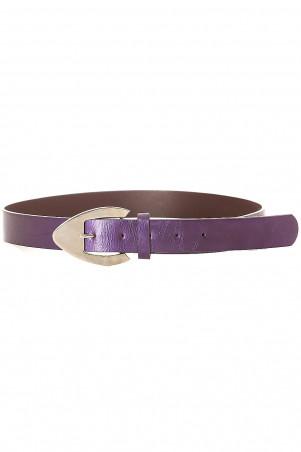 Women's belt in purple with metallic buckle. mh-020