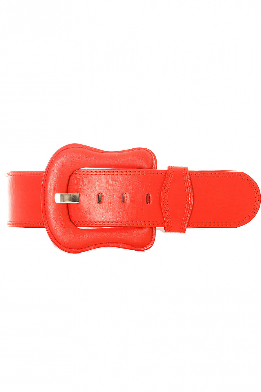 Big red belt with buckle of the same material. BG-po13