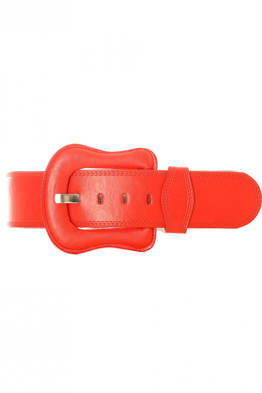 Grosse ceinture rouge avec boucle de la même matière. BG-po13