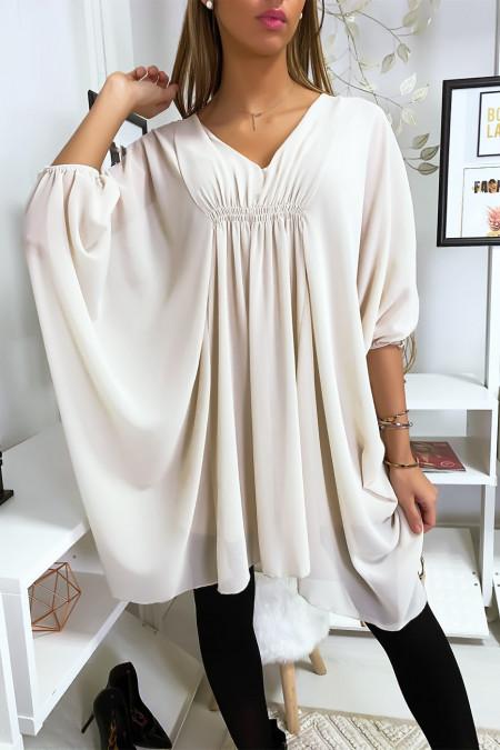 Beige oversize tunic