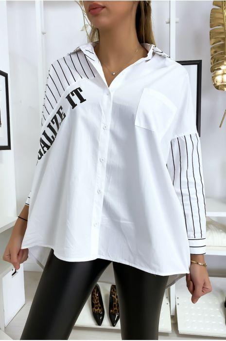 Chemise blanche oversized et asymétrique