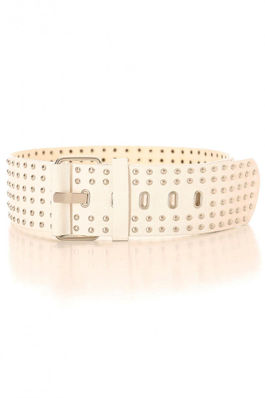 White Studded Belt SG-0653