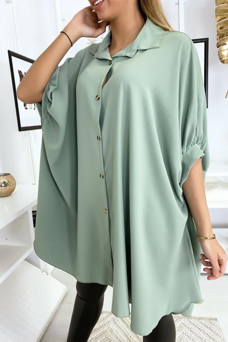 Large turquoise tunic shirt