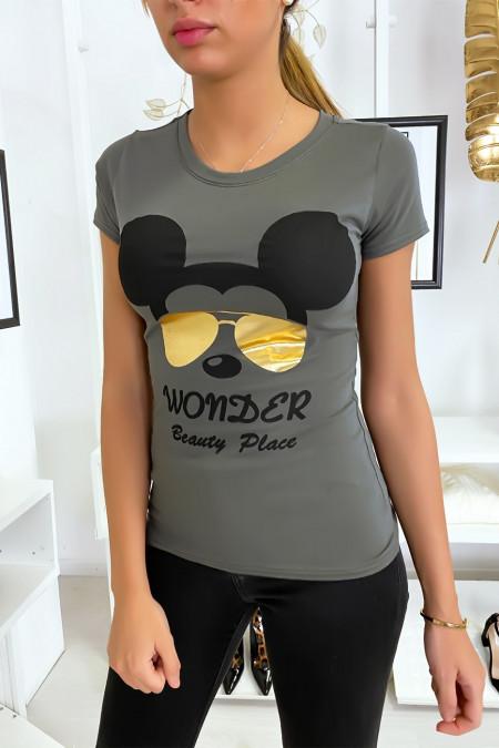 Kaki Mickey T-shirt
