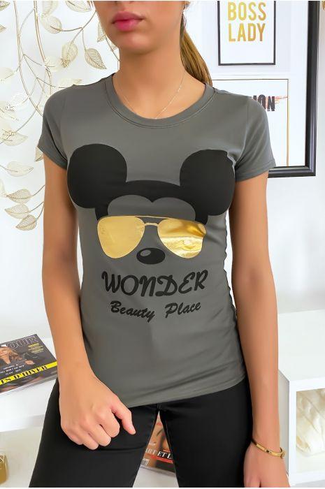 T-shirt kaki Mickey