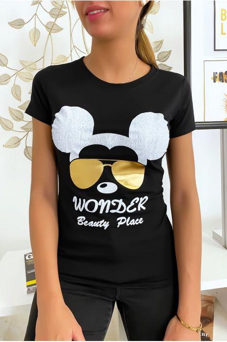Zwart Mickey T-shirt