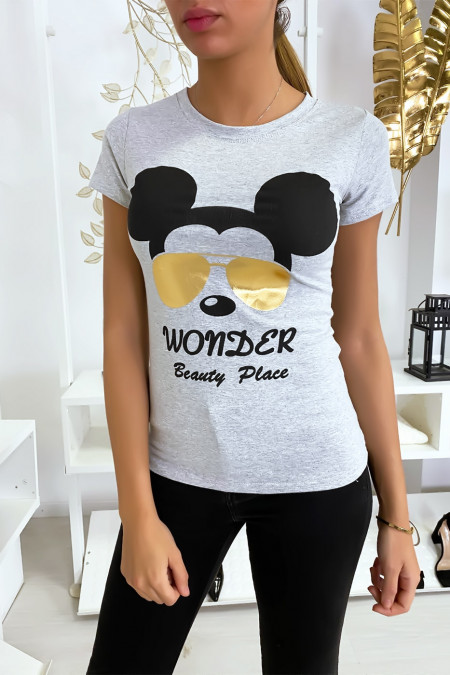 T-shirt gris Mickey