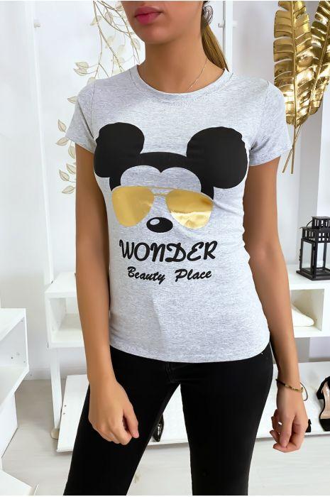 T-shirt gris Mickey