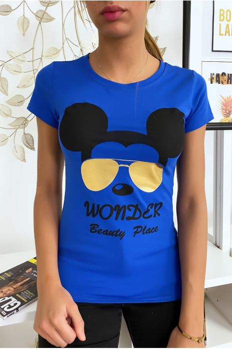 T-shirt royal Mickey