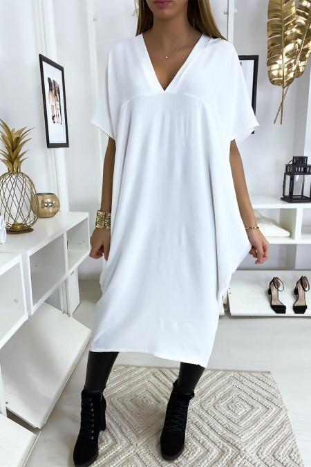 Lange losse witte jurk