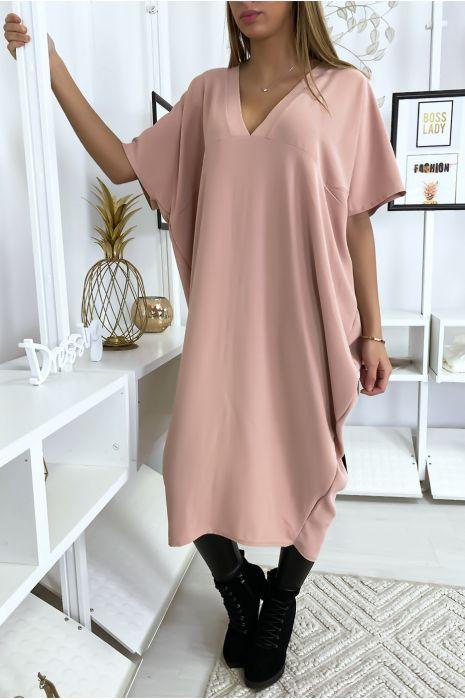 Robe rose longue et ample