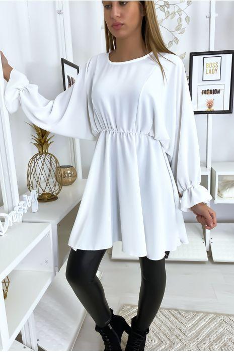 Tunique blanche femme à manches longues