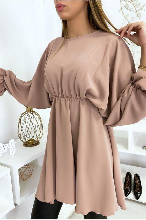 Tunique rose femme à manches longues