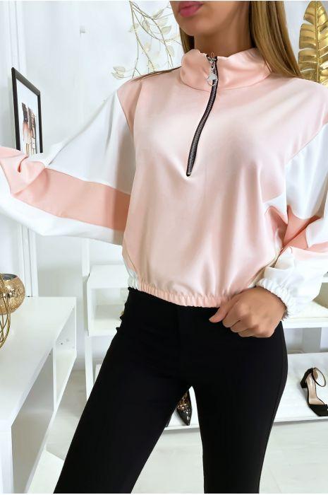 Sweater femme vintage rose